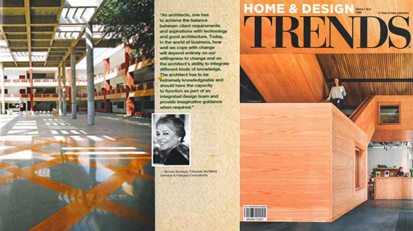 Building Conversations by Brinda Somaya; Home & Design Trends Magazine February 2017 Volume 4 No. 9