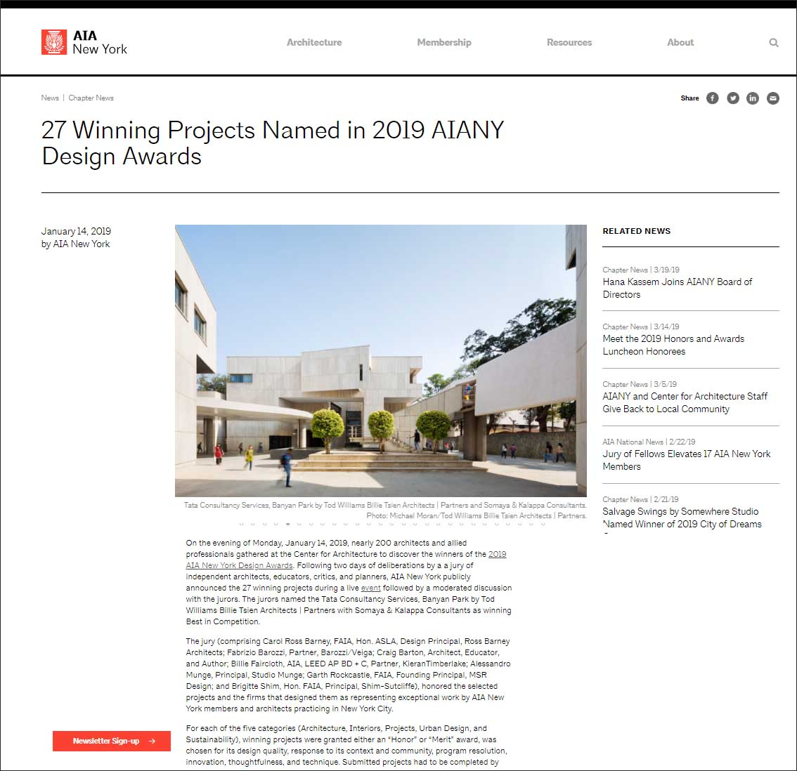 27 Winning Projects Named in 2019 AIANY Design Awards, AIA New York - January 2019