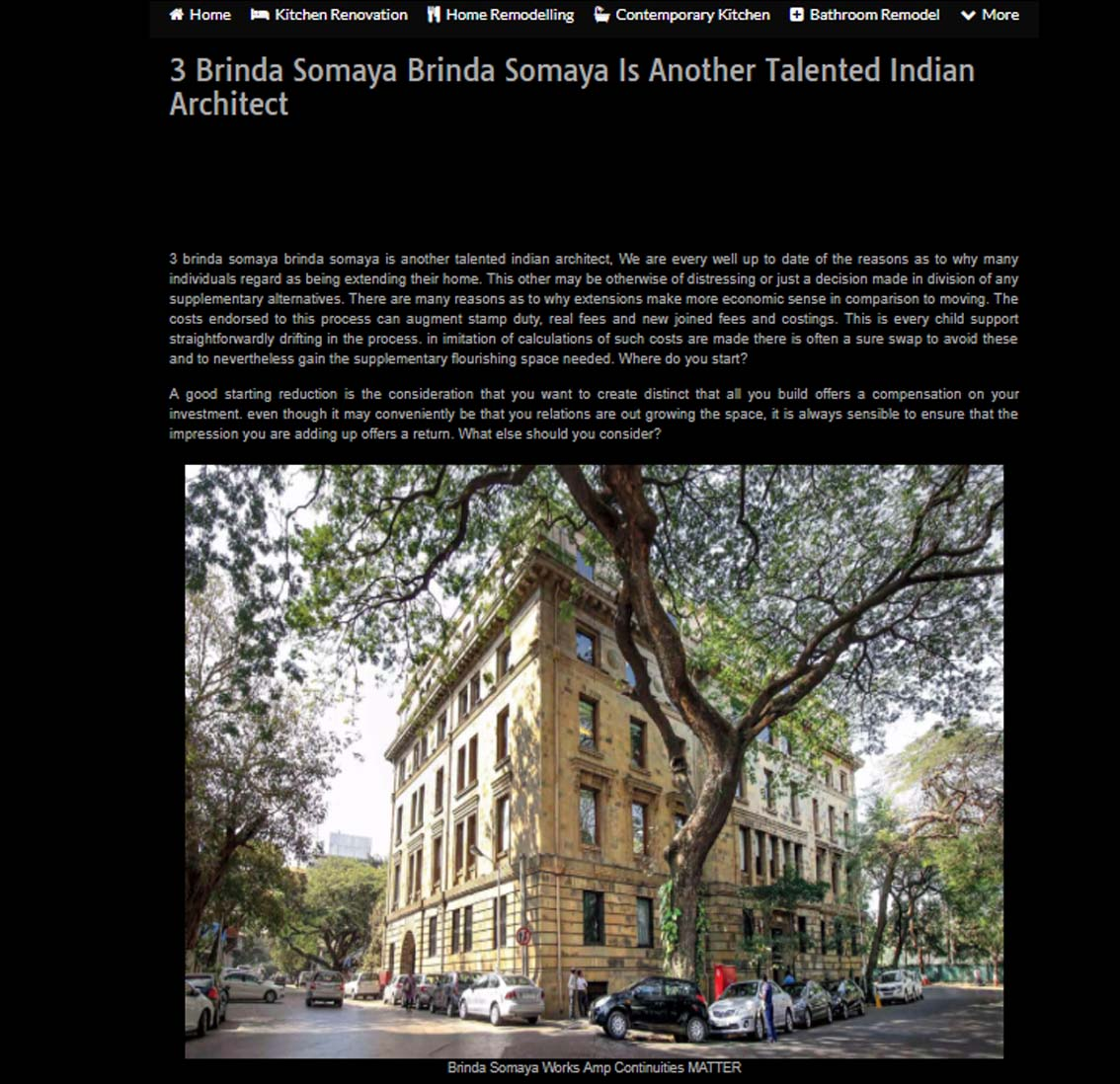 3 Brinda Somaya is Another Talented Indian Architect - 2018
