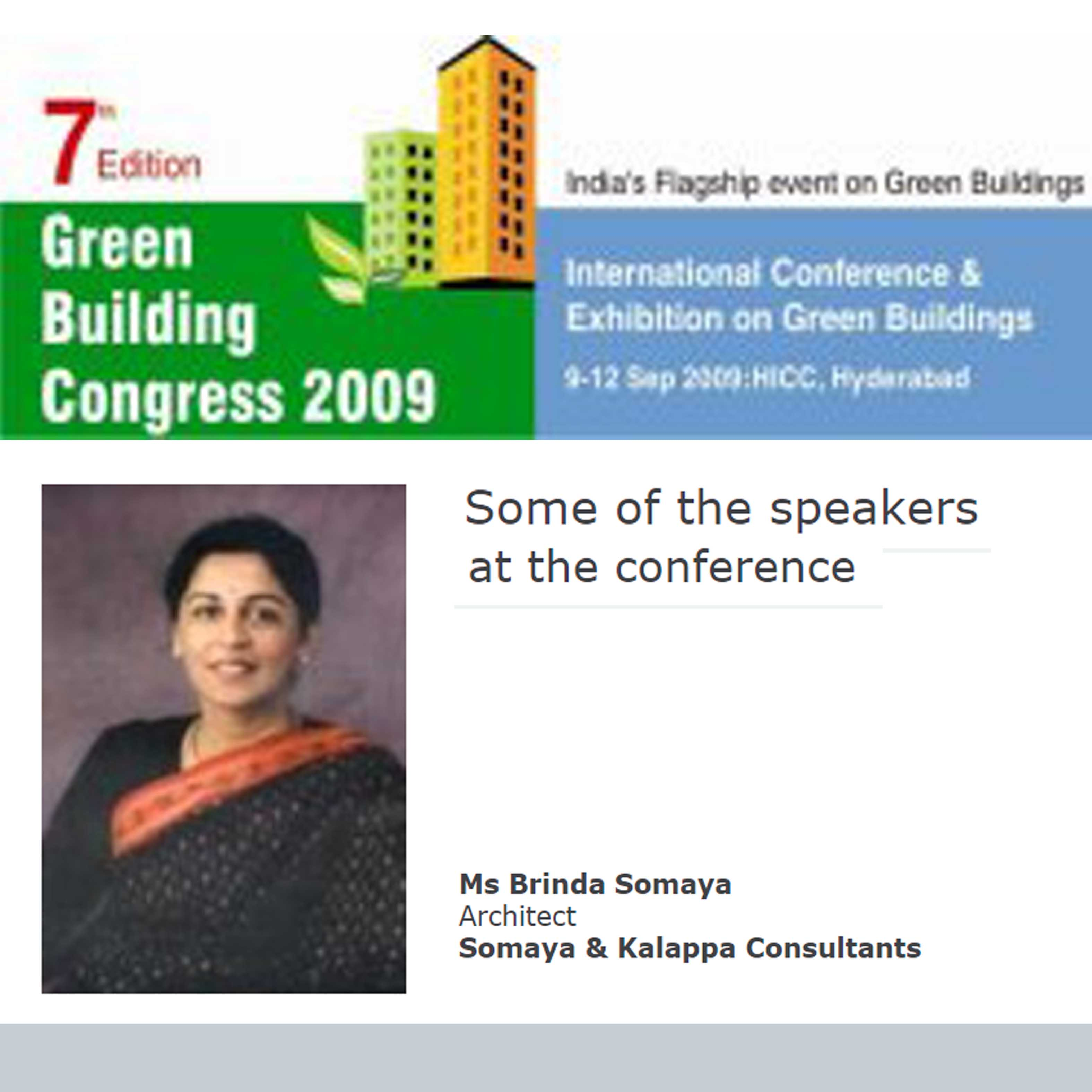 7th Edition Green Building Congress - 2009