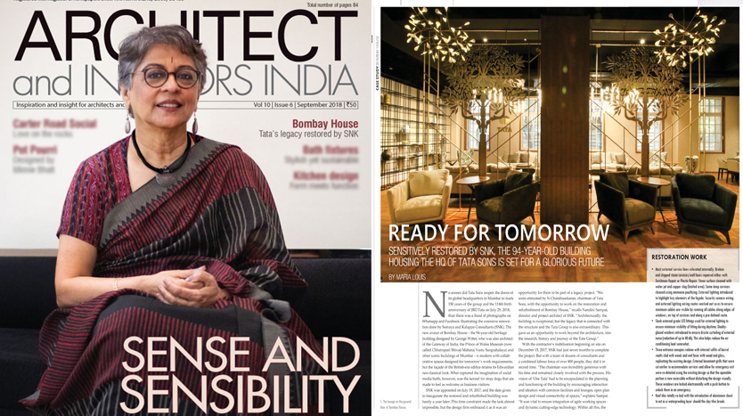 Architect and Interiors India, September 2018, Volume 10, Issue 06