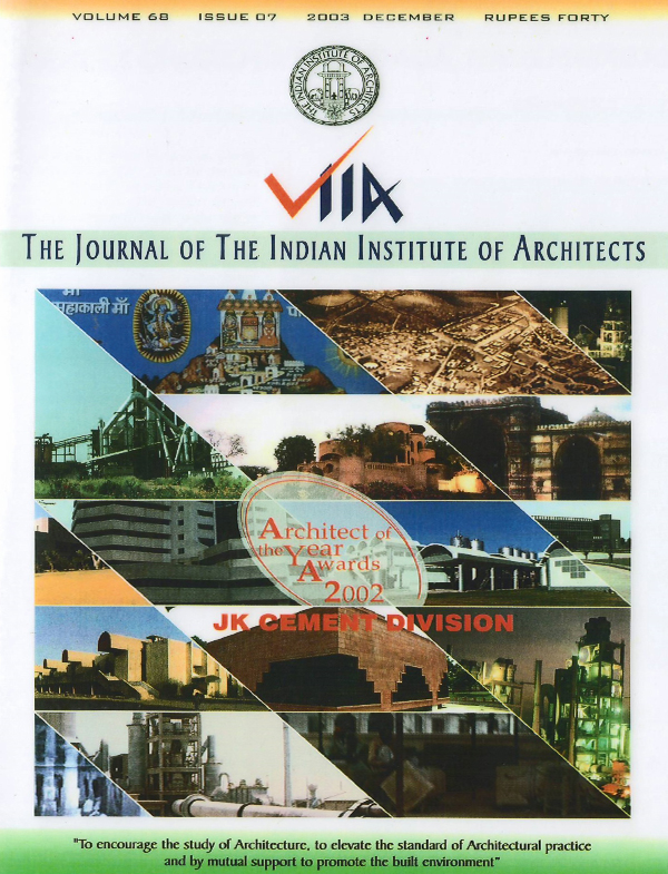 The Journal of the Indian Institute of Architects - November 2003
