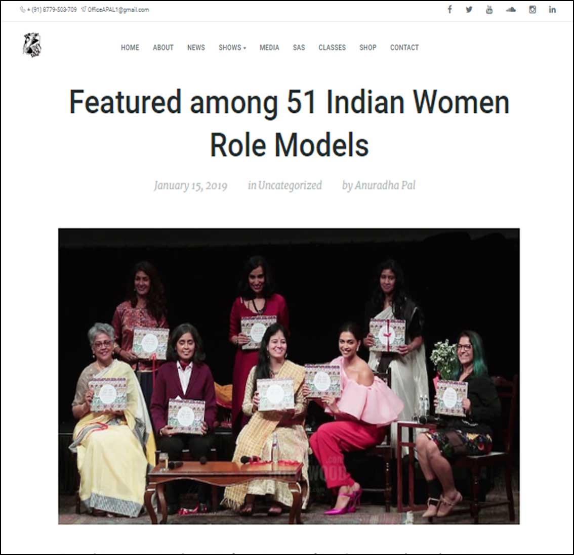 Featured among 51 Indian Women Role Models, The Dot that went for a walk ,anuradha pal - January 2019