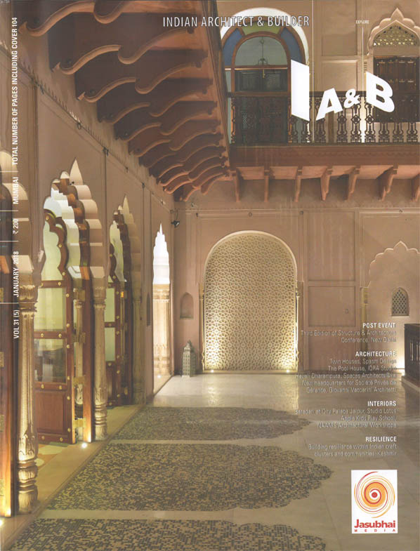 Indian Architect and Builder - January 2018. Vol 31 (5).