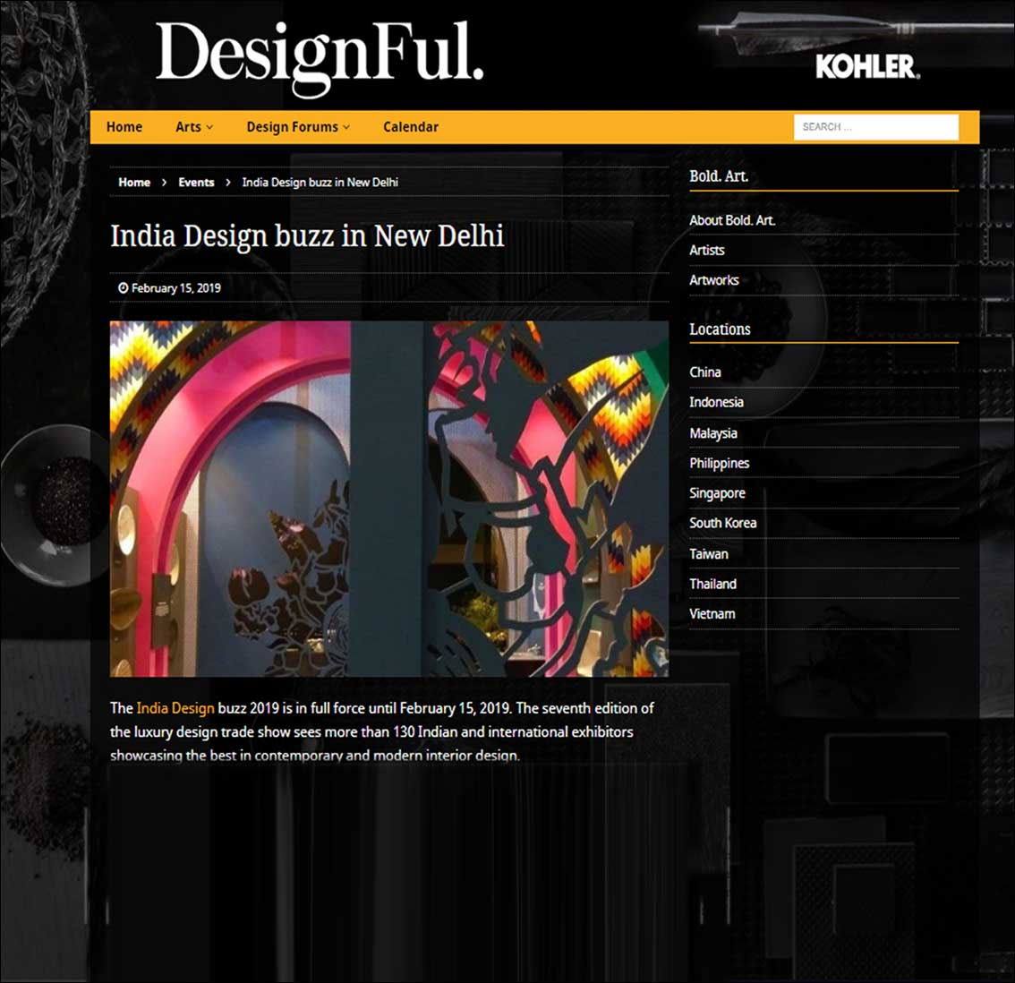 India Design Buzz in New Delhi, Kohler Design - February 201
