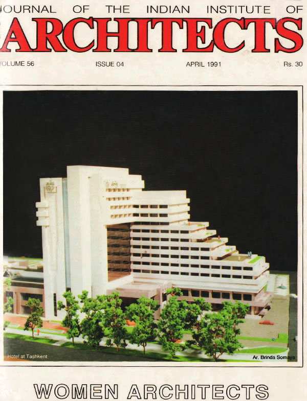 Journal of the Indian Institute of Architects - April 1991