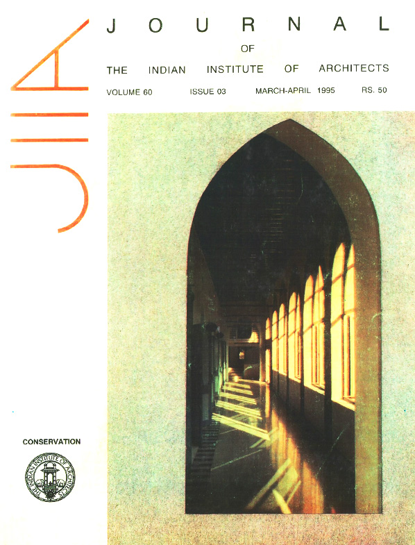 Journal of the Indian Institute of Architects - April 1995