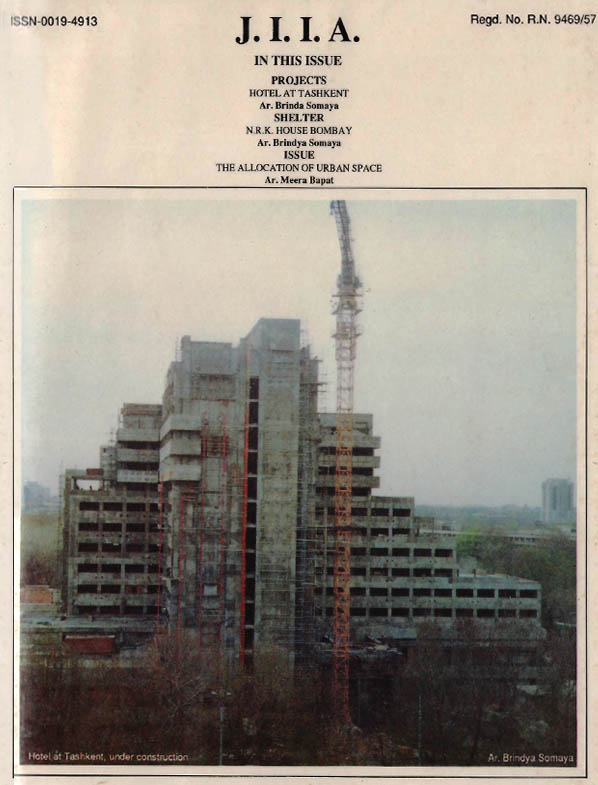 Journal of the Indian Institute of Architects - August 1991
