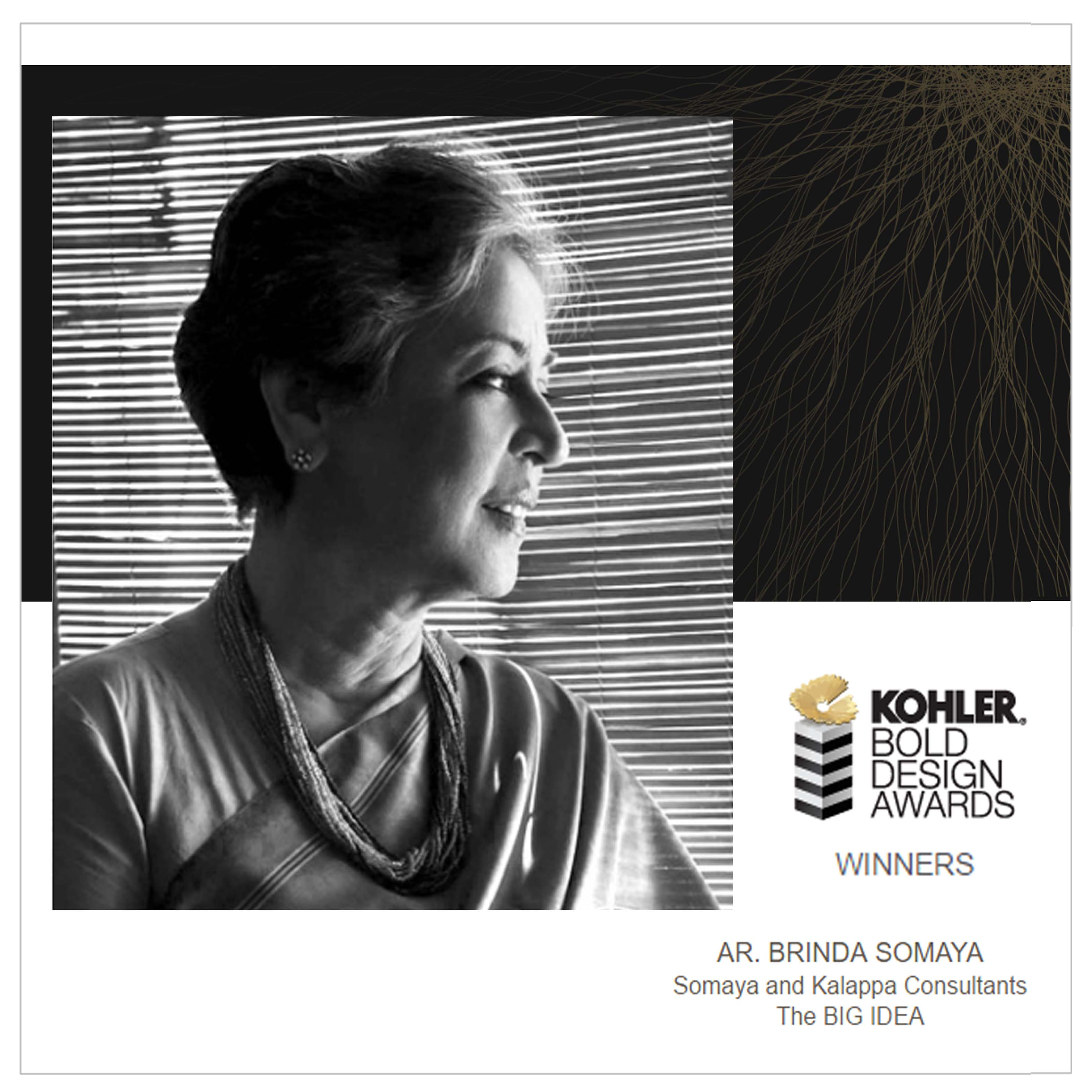 Kohler Bold Design Awards 2016-2nd December 2016