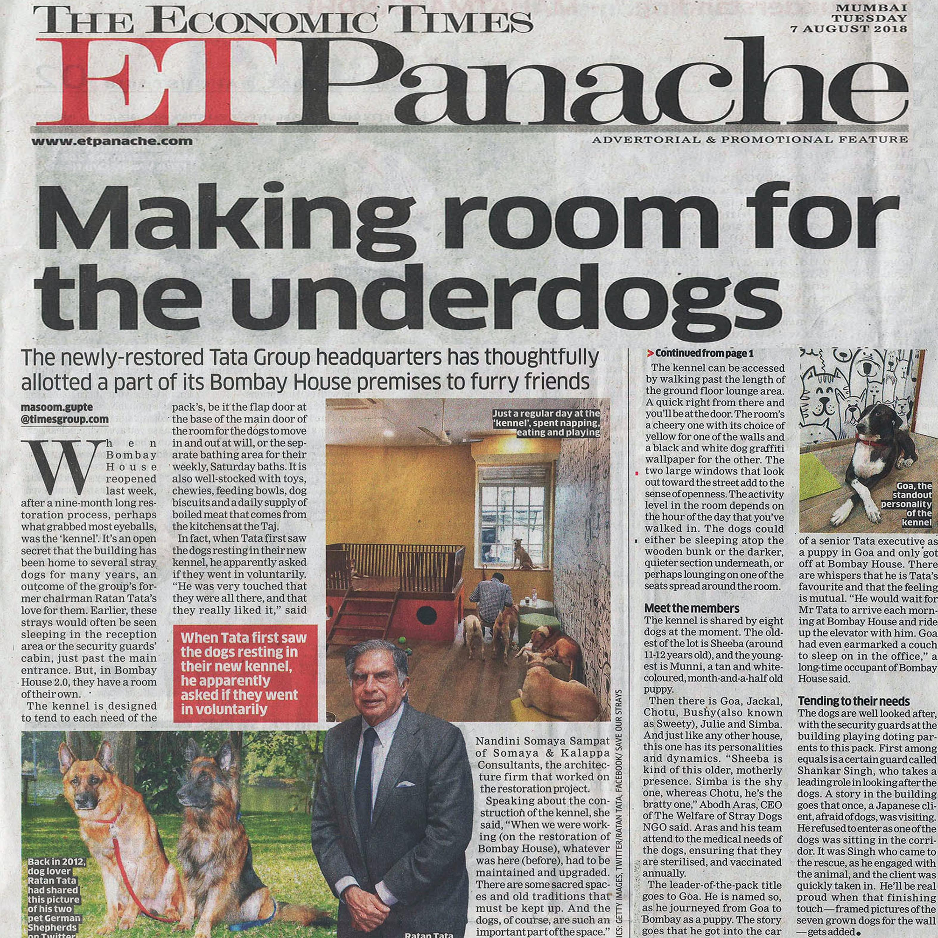 Making room for the Underdogs - The Economic Times - Aug 2018