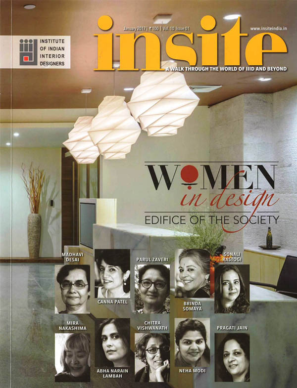 Forging a strong foundation of success by Brinda Somaya; INSITE Magazine - January 2017 issue
