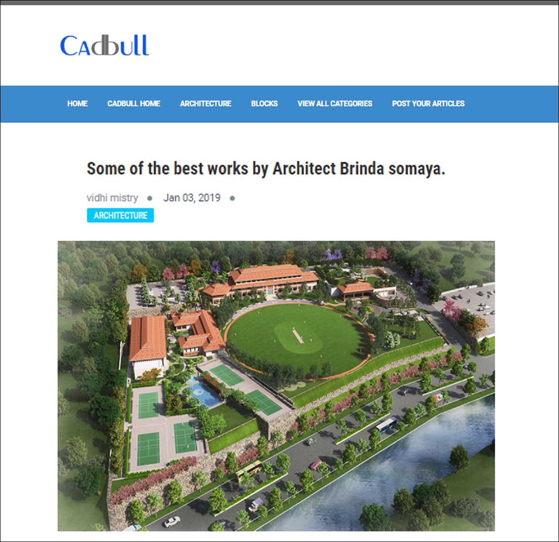 Some of the Best works by Architect Brinda Somaya, Cadbull - January 2019