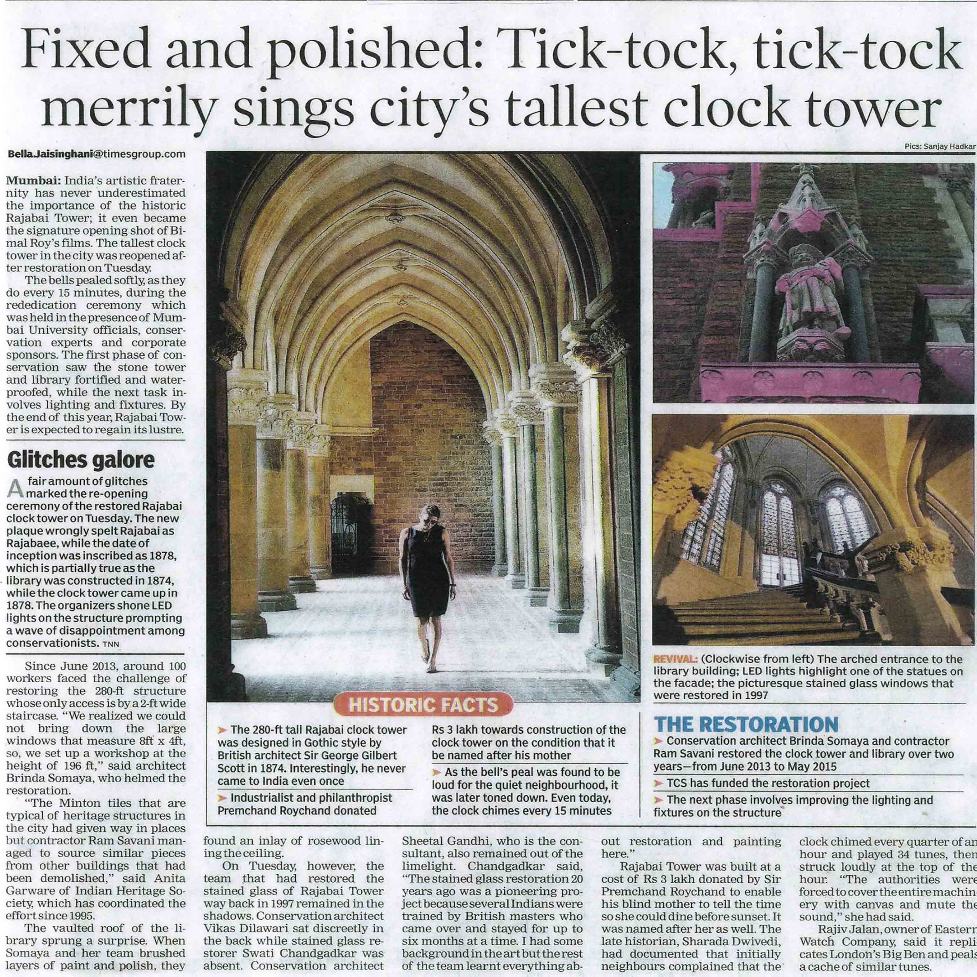 The Times of India - Tixed and Polished: tick-tock, tick-tock merrily sings city's tallest cloc tower