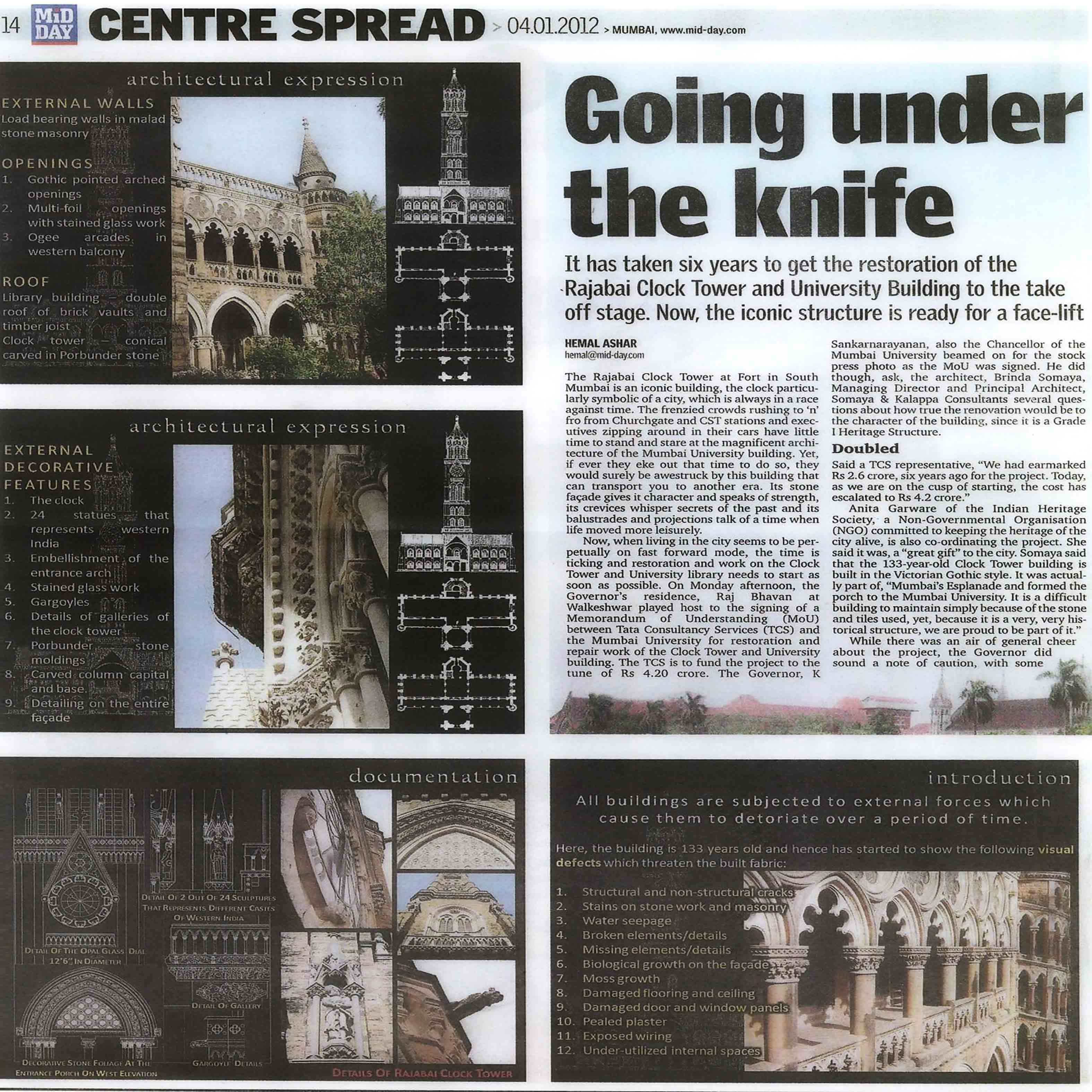 Mid Day - Going Under The Knife - Rajabai Clock Tower
