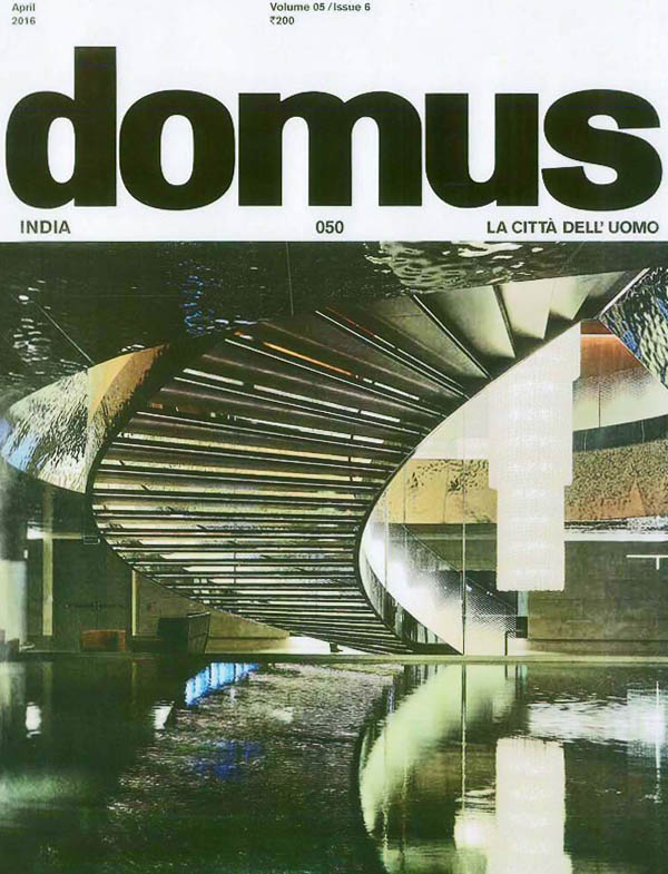 Domus magazine publishes an article on Joint panel discussion of The State of Architecture: Practices and Processes in India
