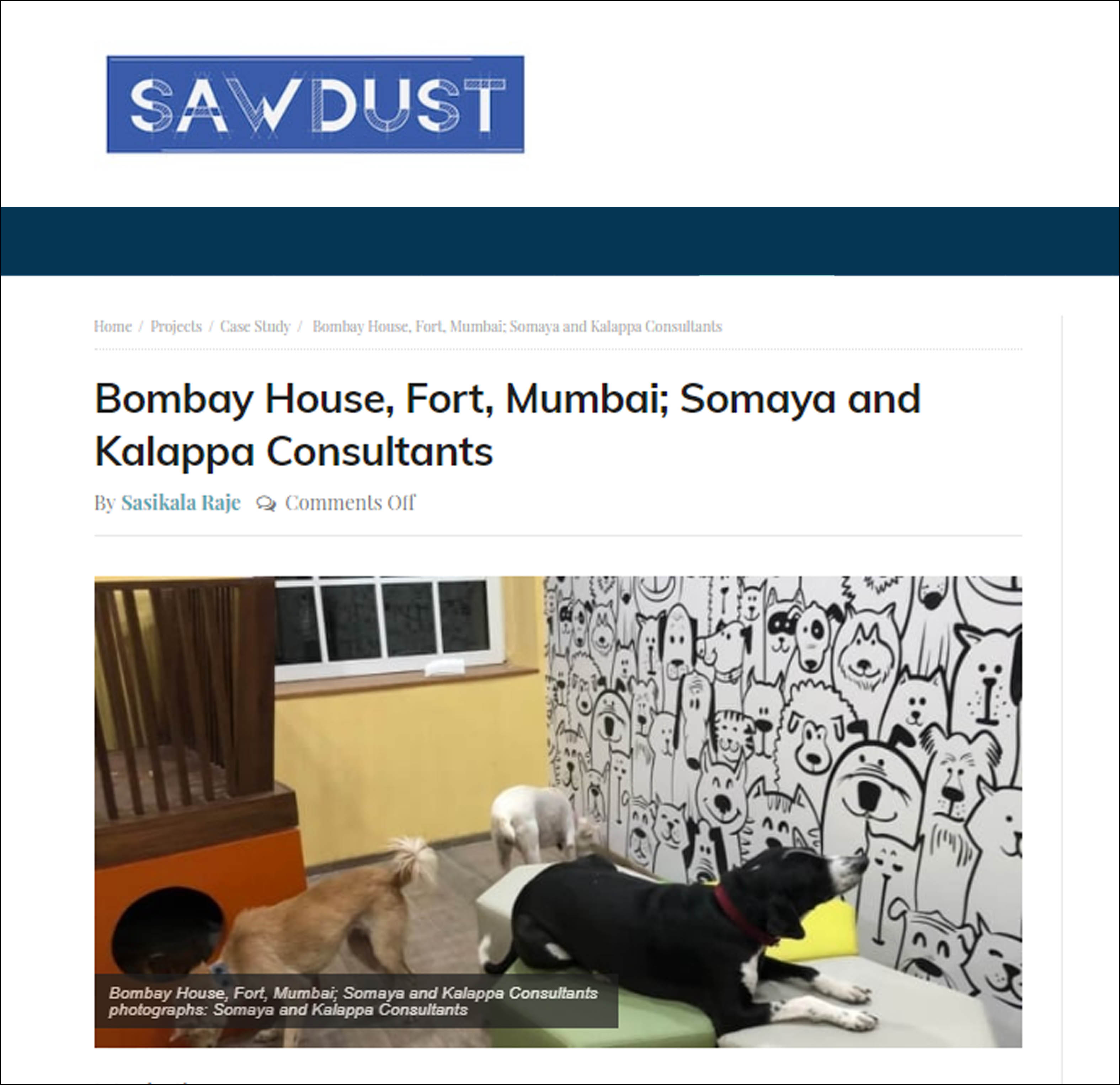 Bombay House, Fort, Mumbai; Somaya and Kalappa Consultants, Sawdust - on 29 July 2018