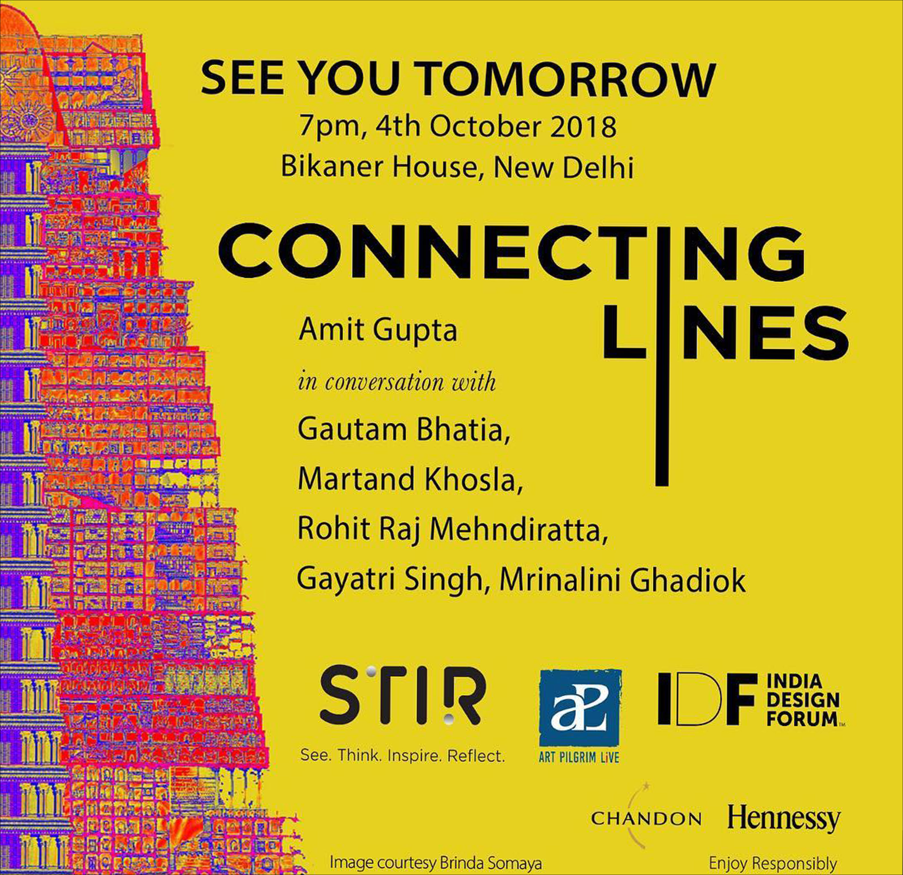 See you Tomorrow at Connecting Lines - Mondo arc india
